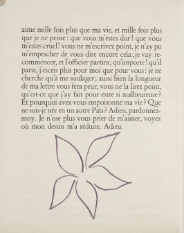 Untitled, ornament, pg. 82, in the book Lettres (Lettres Portugaises) by Marianna Alcaforado (Paris: Tériade Éditeur, 1946)