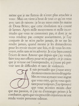 Untitled, letter, pg. 91, in the book Lettres (Lettres Portugaises) by Marianna Alcaforado (Paris: Tériade Éditeur, 1946)