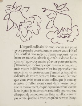 Untitled, ornament, pg. 92, in the book Lettres (Lettres Portugaises) by Marianna Alcaforado (Paris: Tériade Éditeur, 1946)