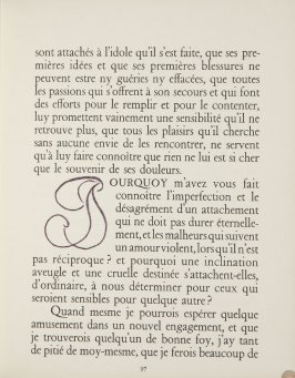 Untitled, letter, pg. 97, in the book Lettres (Lettres Portugaises) by Marianna Alcaforado (Paris: Tériade Éditeur, 1946)
