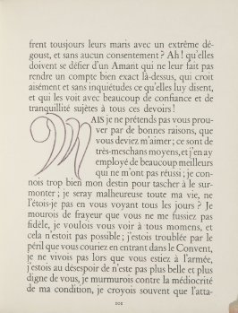 Untitled, letter, pg. 101, in the book Lettres (Lettres Portugaises) by Marianna Alcaforado (Paris: Tériade Éditeur, 1946)