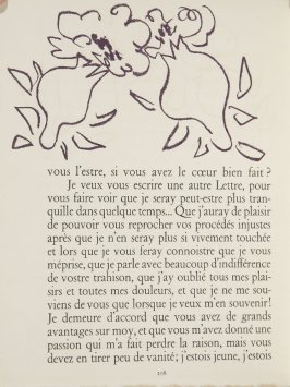 Untitled, ornament, pg. 108, in the book Lettres (Lettres Portugaises) by Marianna Alcaforado (Paris: Tériade Éditeur, 1946)