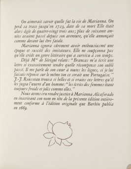Untitled, ornament, pg. 117, in the book Lettres (Lettres Portugaises) by Marianna Alcaforado (Paris: Tériade Éditeur, 1946)