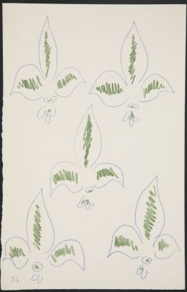 Untitled (fleur de lys variation).on page 24, fourth image of four on sixth folded sheet in the unbound book Poèmes de Charles d'Orléans (Paris: Tériade éditeur, 1950)