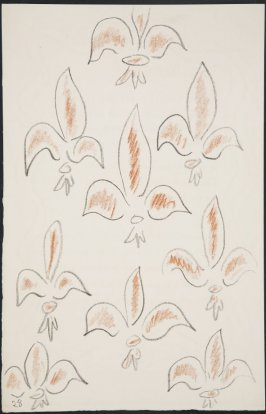 Untitled (fleur de lys variation)on page28, fourth image of four on seventh folded sheet in the unbound book Poèmes de Charles d'Orléans (Paris: Tériade éditeur, 1950)
