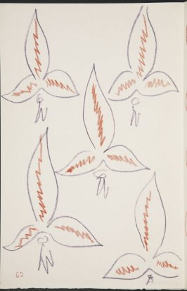 Untitled (fleur de lys variation) on page 62, second image of four on sixteenth folded sheet in the unbound book Poèmes de Charles d'Orléans (Paris: Tériade éditeur, 1950)