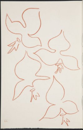Untitled (fleur de lys variation). on page 66, second image of four on seventeenth folded sheet in the unbound book Poèmes de Charles d'Orléans (Paris: Tériade éditeur, 1950)