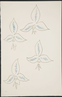 Untitled (fleur de lys variation) on page 72, fourth image of four on eighteenth folded sheet in the unbound book Poèmes de Charles d'Orléans (Paris: Tériade éditeur, 1950)