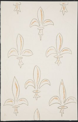 Untitled (fleur de lys variation)on page 76, fourth image of four on nineteenth folded sheet in the unbound book Poèmes de Charles d'Orléans (Paris: Tériade éditeur, 1950) !...