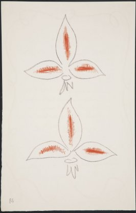 Untitled (fleur de lys variation)on page 84 , fourth image of four on twenty-first folded sheet in the unbound book Poèmes de Charles d'Orléans (Paris: Tériade éditeur, 1950)