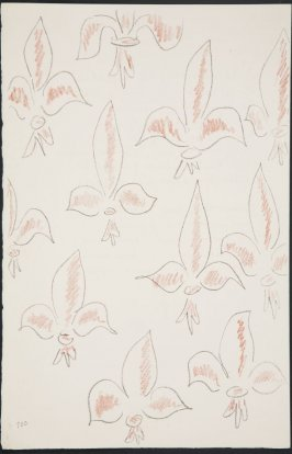 Untitled (fleur de lys variation) on page 100, fourth image of four on twenty-fifth folded sheet in the unbound book Poèmes de Charles d'Orléans (Paris: Tériade éditeur, 1950)