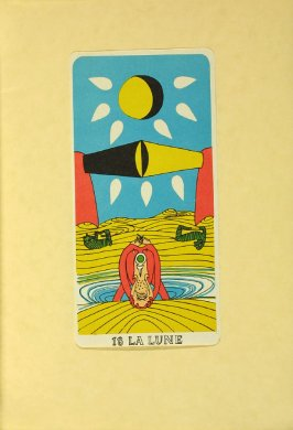 """18 LA LUNE,"" between pgs. 80 and 81, in the book Arcane 17 by André Breton (New York: Brentano's, 1944)"