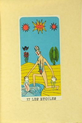"""""""17 LES ETOILES,"""" between pgs. 128 and 129, in the book Arcane 17 by André Breton (New York: Brentano's, 1944)"""