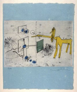 Untitled Composition, Illustration of a Poem by Alain Bosquet