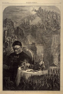 The Vision of Loyola - Our New Board of Education - p.553 Harper's Weekly (28 June 1873)