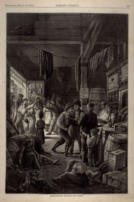 Intemperance, Idleness and Misery - p.247 Harper's Weekly (14 March 1874)