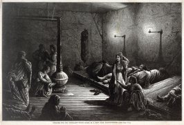 Shelter for the Homeless - Night Scene in a New York Station House - p.1109 Harper's Weekly (13 December 1873)