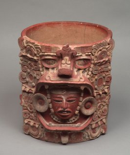 Vessel with frontal face