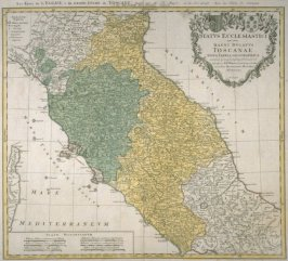 Map - Ducatus Toscanae (map of the dukedom of Toscane)