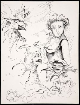 Untitled (sketch of a woman)
