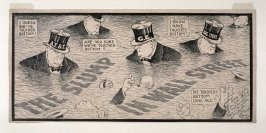 The Slump in Wall Street, Editorial cartoon for The Hearst Papers