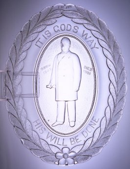 """Garfield commemorative plate: """"It is God's Way - His Will Be Done"""""""