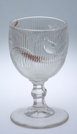 Goblet with Ribbed Bellflower pattern