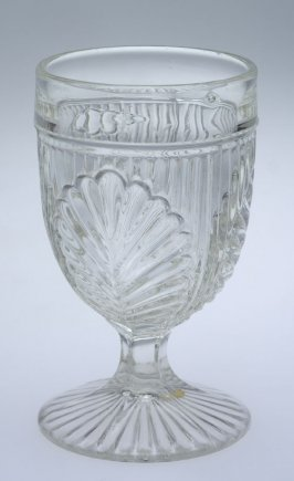 Wine glass Inverted fern (ribbed palm or sprig)