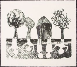 Untitled (Trees and House)