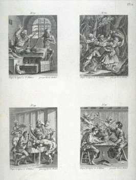Plate X, no.37-40 from The Dance Of Death