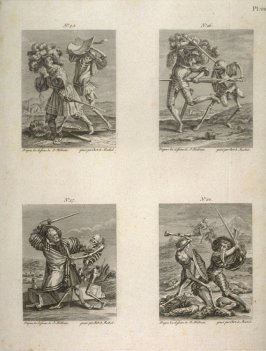 Plate VII, no.23-28 from The Dance Of Death
