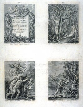 Plate I, no.1-4 from The Dance Of Death