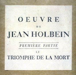 Cover and List of Illustrations - Le Triomphe de la Mort (The Dance Of Death)