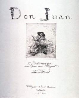 [Title page to Don Juan and a table of contents]