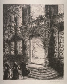 """Act I Scene III, Etching from Mozart's Opera """"Don Giovanni"""""""