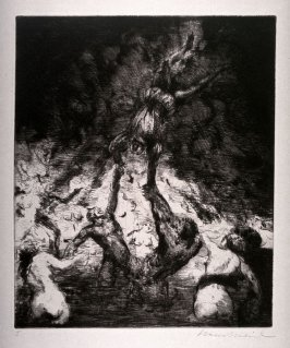 "One of three Etchings to Mozart's Opera ""Don Giovanni"""