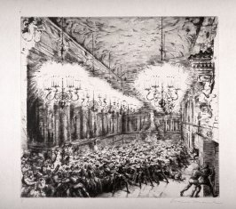 """One of three Etchings to Mozart's Opera """"Don Giovanni"""""""