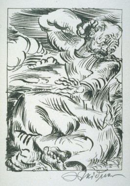 untitled, plate at p. 51, in the book, Septemberschrei (Berlin: Paul Cassirer, 1920)