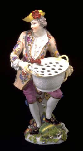 Figurine of flower vendor