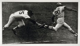 Untitled (two baseball players), pl. 1 from the book A Scratch on the Negative (Oakland: Crown Point Press, 1974)