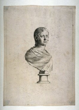 Bust of female classic sculpture