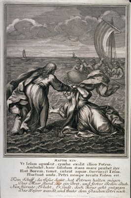 [Matth.XIV-Jesus and Peter Walking on the Water]