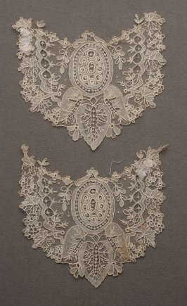Two lace lappet ends