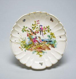 Dish with fluted border