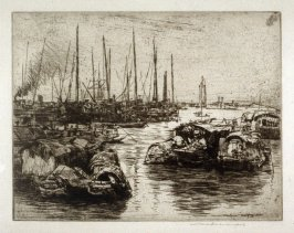Harbor with ships