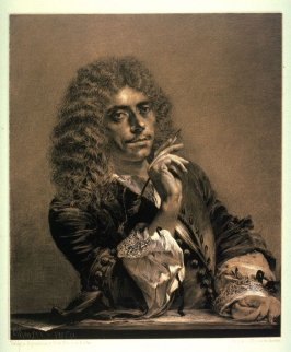 Portrait of the poet Moliere