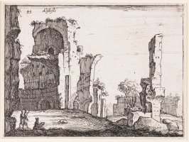 TheAntonine Baths, pl. 43 from the series Alcune vedute et prospettive di luoghi dishabitati di Roma (Some Views and Perspectives of the Uninhabited Places of Rome)