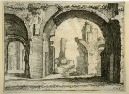 Listesse (The Same[ i.e.the Antonine Baths]),[ pl. 41] from the series Alcune vedute et prospettive di luoghi dishabitati di Roma (Some Views and Perspectives of the Uninhabited Places of Rome)