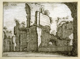 Listesse (The Same[ i.e.the Antonine Baths]), pl. 44 from the series Alcune vedute et prospettive di luoghi dishabitati di Roma (Some Views and Perspectives of the Uninhabited Places of Rome)