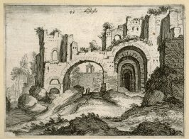 Listesse (The Same[ i.e.the Antonine Baths]), pl. 45 from the series Alcune vedute et prospettive di luoghi dishabitati di Roma (Some Views and Perspectives of the Uninhabited Places of Rome)